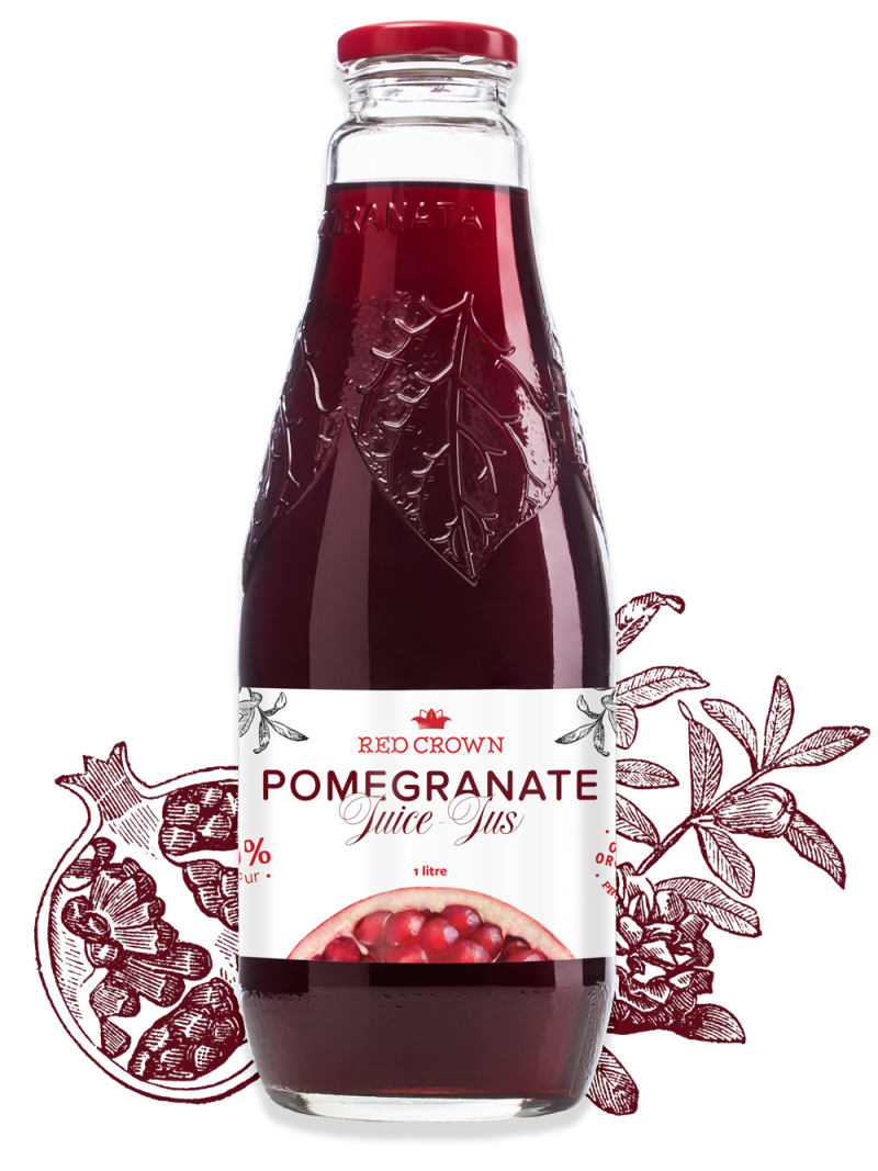 Bottle of Red Pomegranate Crown Juice